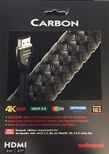 """Audioquest HDMI Carbon Cable, 2m (6'7""""), Brand New Condition, Authentic."""