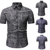 2019 Fashion Men's Lapel Camouflage Short Sleeve Shirt Leisure T-Shirt Blouse