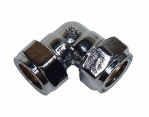 15mm Chrome Plated Compression Elbow Fitting
