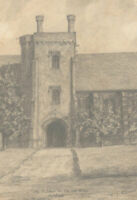 V. J. Palmer - Signed Early 20th Century Graphite Drawing, Old Palace, Hatfield