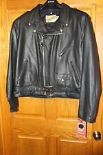 SCHOTT NYC 118 CLASSIC PERFECTO LEATHER BIKER MOTORCYCLE JACKET BLACK 52 3XL NEW