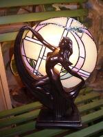 DANISH ART DECO DESIGN,TIFFANY LADY TABLE MOOD LAMP,40 WATT.STYLE GR2803