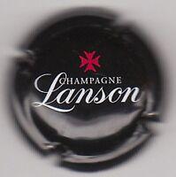 capsule champagne LANSON, fond noir