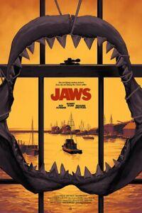 PHANTOM CITY CREATIVE PCC JAWS VARIANT SOLD OUT MONDO MOVIE POSTER/SCREEN PRINT