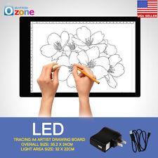 A4 LED Ultra Slim Art Craft Drawing Tracing Tattoo Light Box Pad Board Lightbox
