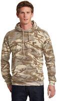 Port & Co Men's Long Sleeve Core Fleece Camo Pullover Hooded Sweatshirt. PC78HC