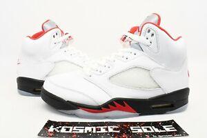 Nike Air Jordan 5 Retro Fire Red 2020 Style # DA1911-102 Size 9.5