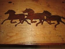 Running Horses Wall Art Western Rustic Cabin Home Decor Horse Rodeo Cowgirl