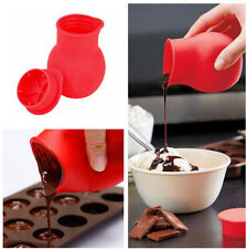 Silicone Chocolate Pot Melting Butter Milk Heat Sauce Microwave Kitchen Aid New