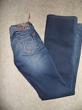 NEW MEK DENIM Jeans Size 26 x 34 TOMSK Boot Cut DESTRUCTED