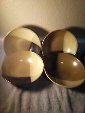 New listing 4) Sango Gold Dust Black Salad / Soup Bowls -Free Ship-Vgc