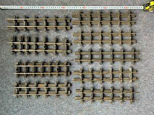 Job Lot O gauge BRASS track wooden sleepers Vintage Bassett-Lowke Bonds/similar
