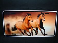 HORSE  METAL NOVELTY LICENSE PLATE TAG FOR CARS BROWN HORSE