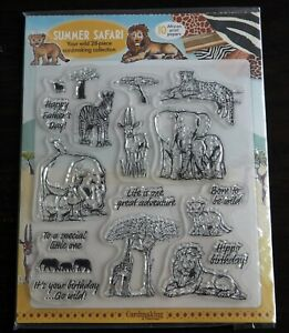 Summer Safari Clear Stamp Set with Backing Papers