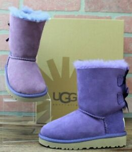 UGG KIDS K BAILEY BOW BOOTS, 3280T/BRRY Berry, TODDLER, Size EUR 25/US 8, NEW