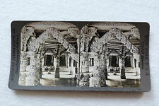Photo stéréoscopique TEMPLE SECTE JAIN INDE 1907,American stereoscopic Co n°467