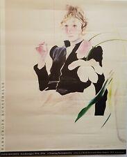 """David Hockney *1937""""Celia Birtwell in einem schwarzen Kleid mit weißen Blumen"""""""