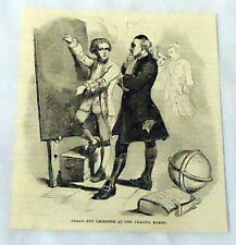 1877 magazine engraving ~ Arago And Legendre, Astronomers