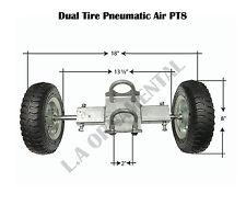Dual Pneumatic Tire PT8 Rolling Gate Carrier Wheels Chain Link Fence Rut Runner