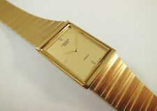 Lassale by Seiko Gold Tone Stainless Steel 8420-1290 Sample Watch NON-WORKING