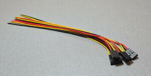 5PCS A2541-3 2.54MM Pitch 3P DUPONT 26AWG 20CM Fly Leads
