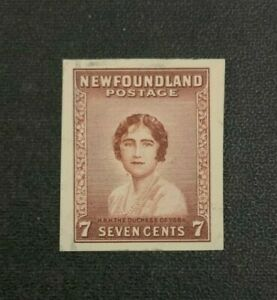 Newfoundland Stamp #208 Imperf Single Mint No Gum with Smudges
