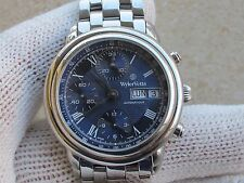 WYLER VETTA AUTOMATIC CHRONOGRAPH DAY-DATE CAL.ETA 7750 MENS 37mm BLUE DIAL
