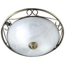Searchlight Brass Modern Bathroom Lobby Living Room Ceiling Flush Fitting Light