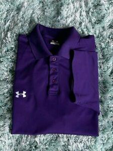 Under Armour Men's Large Purple Short Sleeve Polo Shirt