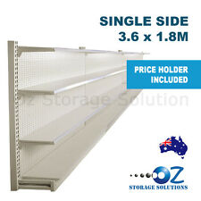 1.8m H x 3.6m W Single Sided Retail Gondola Supermarket Shelving Shop Display