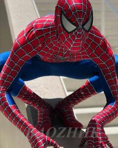 Raimi Spiderman Jumpsuit Spider Bodysuit Cosplay Costume Adult & Kids Halloween