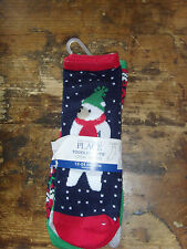 The Children's Place Toddler Boys' Crew socks 12-24 mo winter Polar Bear set New