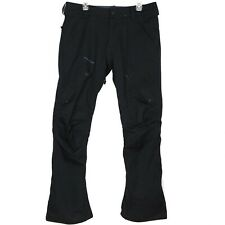 Volcom Mens Articulated Snowboard Pants Size L Black Embroidered Pockets MINT