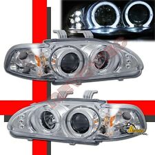 92-95 Honda Civic 2Dr Coupe 3Dr Hatchback Halo Projector Headlights RH + LH