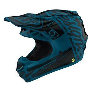 Troy Lee Designs SE4 MIPS Youth Helmet - MD & LG - Blue / Black