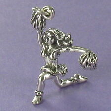 Cheerleader Charm Sterling Silver for Bracelet NEW Sports Cheerleading Girl