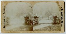 Reservoir Park Toronto ON Canada Vintage Stereoview Photo by T. Eaton Co.
