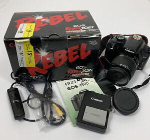 Canon 2756B003 EOS 12.2MP Digital SLR  Camera - Black With Box + Remote Switch