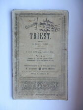 TRIESTE TRIEST vecchia mappa umgebungs karte Lechner Wien carta