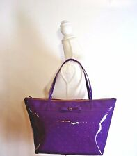 KATE SPADE Camellia Street Sophie Large Tote Bag Bajarose Purple Faux Patent New