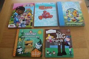 Kid's/ Children's Disney Fiction Book Bundle x5