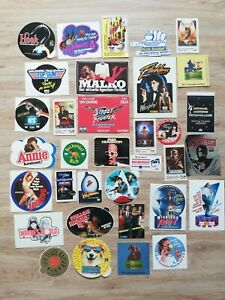 Filme Blockbuster Movies Aufkleber Sticker rar Sammlung 80er Konvolut