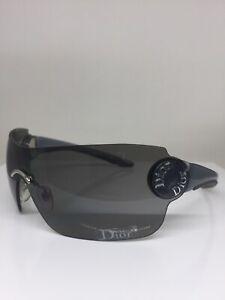 New Christian Dior Schlak 2 Shield Sunglasses C. WG7 Grey & Black Dior Sunglass