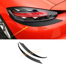 Carbon Fiber Rear Tail Light Eyebrow Trim For Porsche 718 Boxster Cayman 2016-19