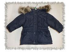Manteau Blouson avec Capuche avec Fourrure Marine Chicco Taille 3 mois Neuf