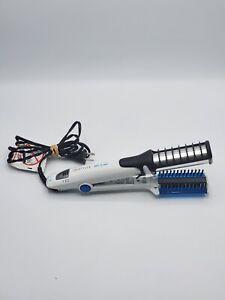 InStyler Wet to 2 Dry Rotating Iron Hair Straightener White Blue