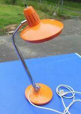 FASE : LAMPE DE BUREAU ROUGE ORIENTABLE SUR ROTULE 1960 1970 VINTAGE industriel