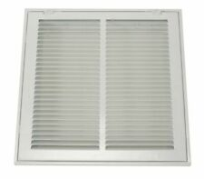 Zoro Select 4Jrt5 Filtered Return Air Grille, 14 X 20, White, Steel