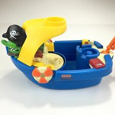 Fisher Price Little People Fishing Boat Plastic Bath Swimming Pool Toy Boat