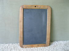 """Antique Slate Chalk Board Small Primitive 10""""x7"""" Child's Wood Frame, Initials"""